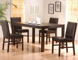Shoemaker Cappuccino Wood Dining Table Set With Hidden Drawers