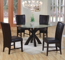 Shoemaker Deep Cappuccino Wood And Glass Dining Set