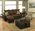 Sierra Chocolate Sectional Sofa (Chair And Ottoman Not Included)
