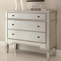 Silver Glass Accent Cabinet