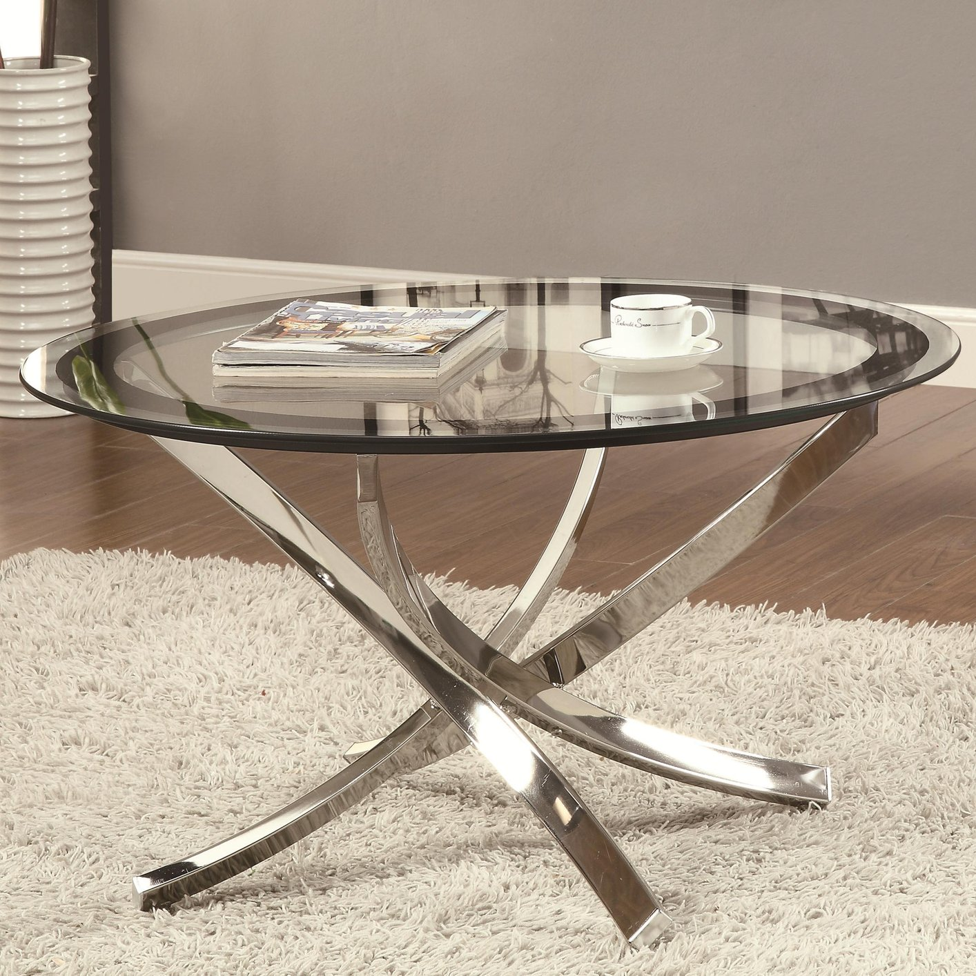 coaster 702588 silver glass coffee table steal a sofa furniture
