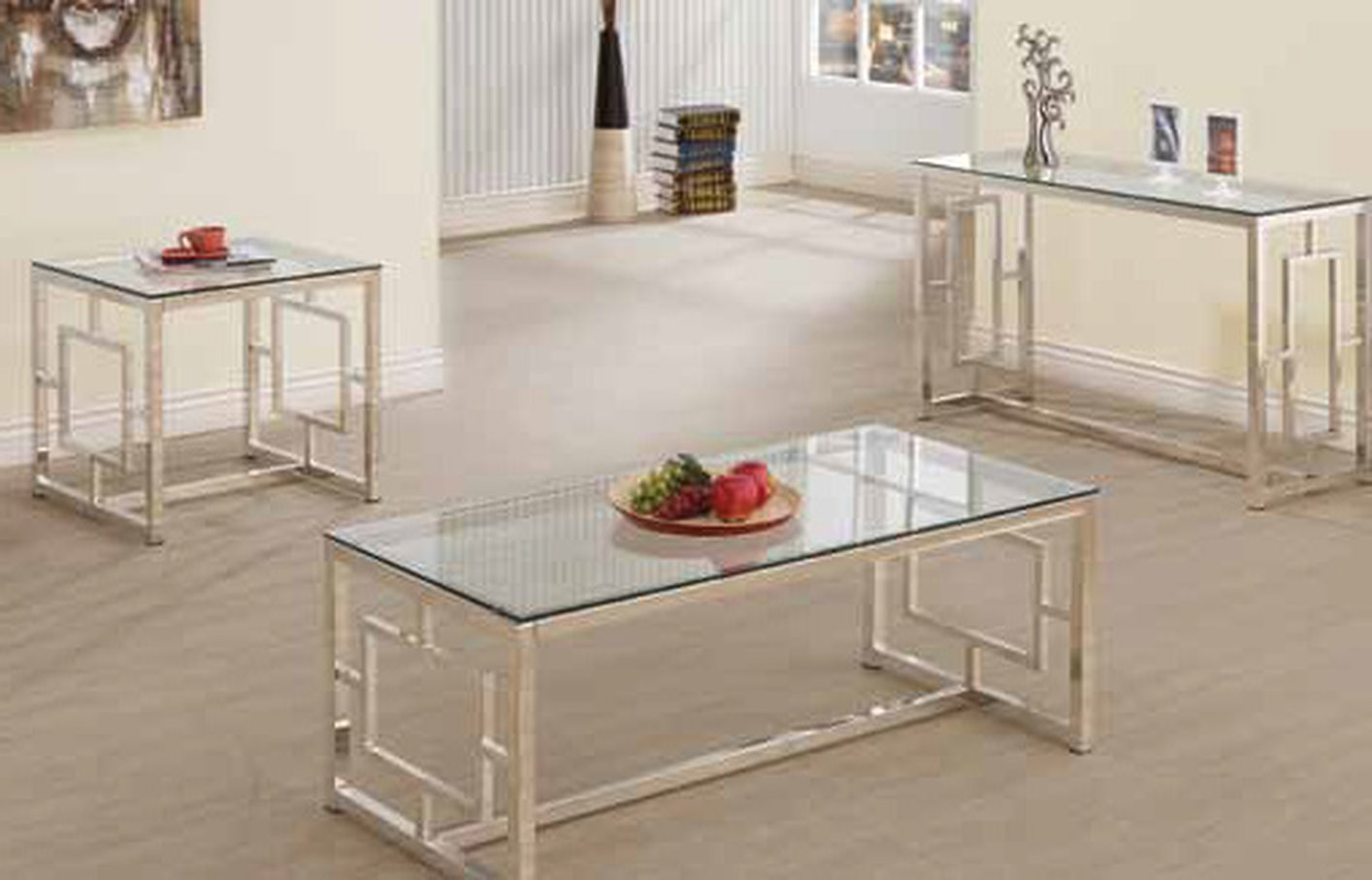 Silver Glass Coffee Table Silver Glass Coffee Table