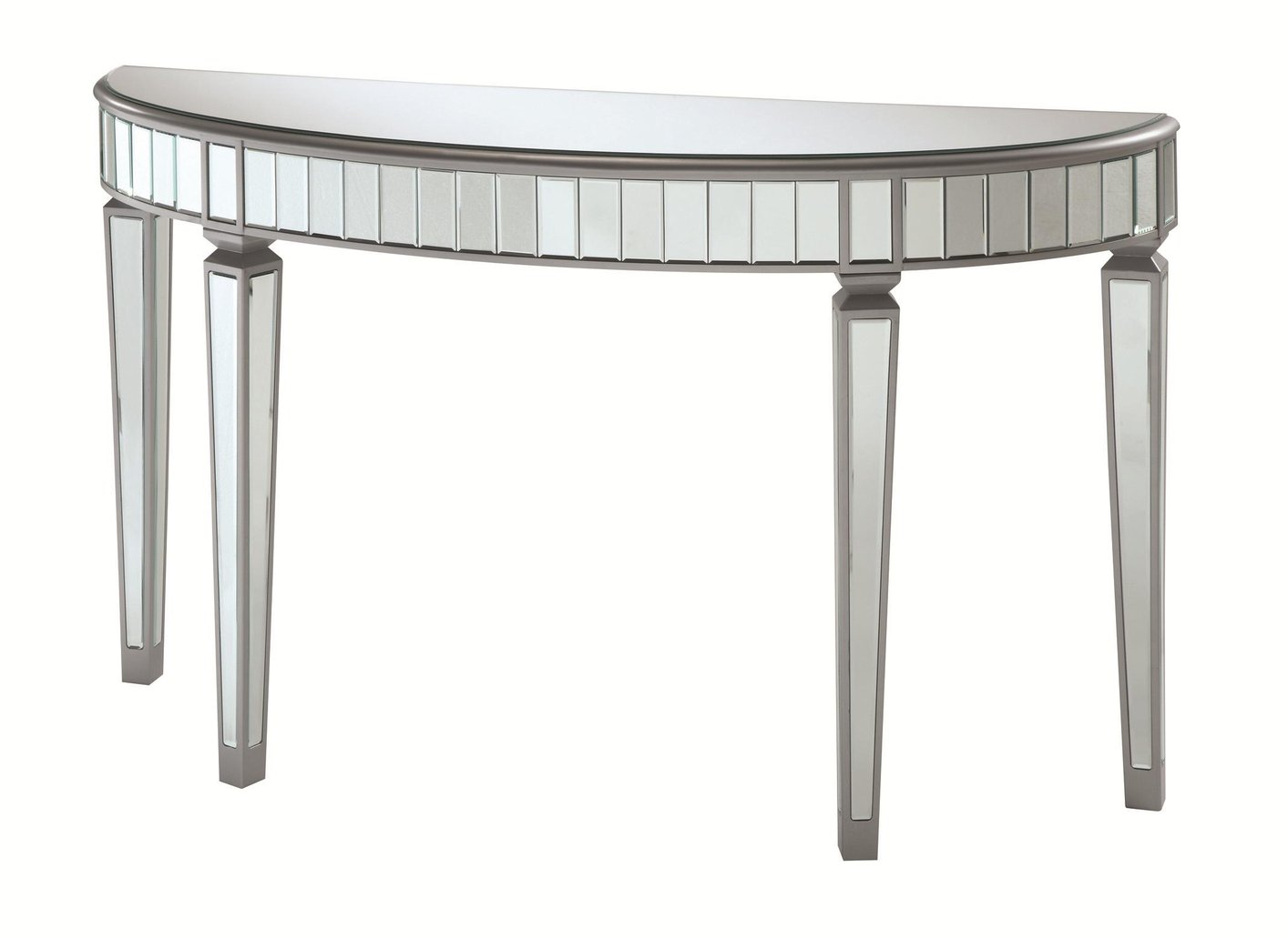 Coaster 950183 silver glass console table steal a sofa furniture