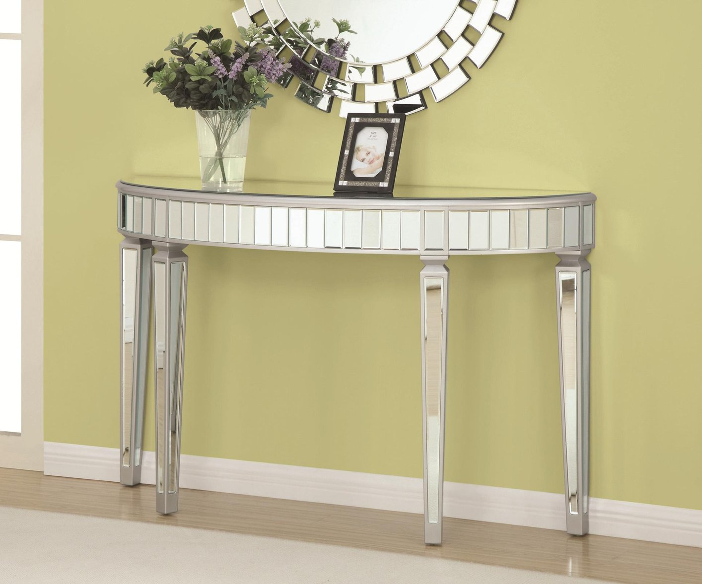 Coaster 950183 Silver Glass Console Table Steal A Sofa  : silver glass console table 8 from www.stealasofa.com size 1414 x 1177 jpeg 157kB