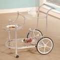 Silver Glass Serving Cart