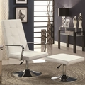 Silver Leather Accent Chair