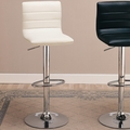 Silver Leather Bar Stool