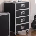 Silver Metal Chest of Drawers