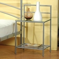 Silver Metal Nightstand