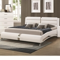 Silver Wood California King Size Bed