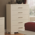 Silver Wood Chest of Drawers