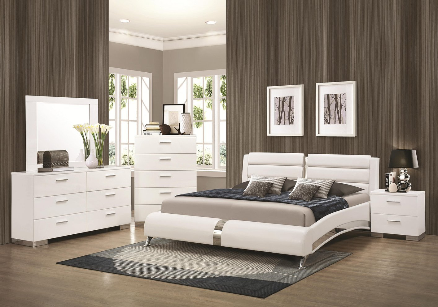 Queen Size Bedroom Suites Coaster 300345q Silver Queen Size Wood Bed Steal A Sofa