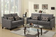 Avery Grey Fabric Sofa and Loveseat Set