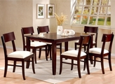 Springs Cappuccino Wood Dining Table Set