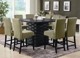 Stanton Black And Green Wood Pub Table Set