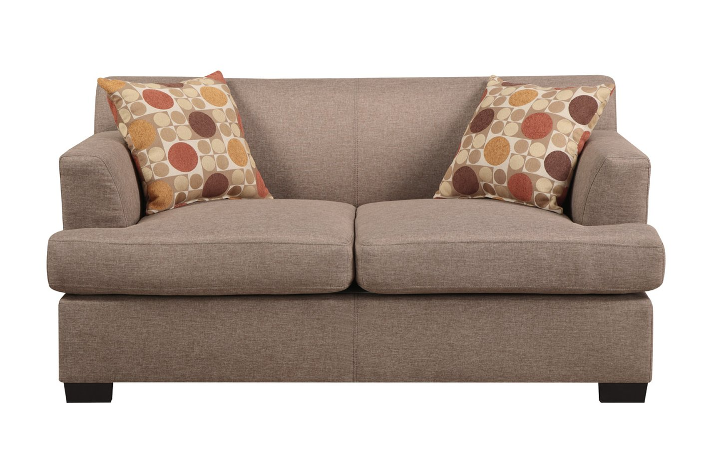 Poundex Montreal V F7967 Beige Fabric Loveseat - Steal-A-Sofa
