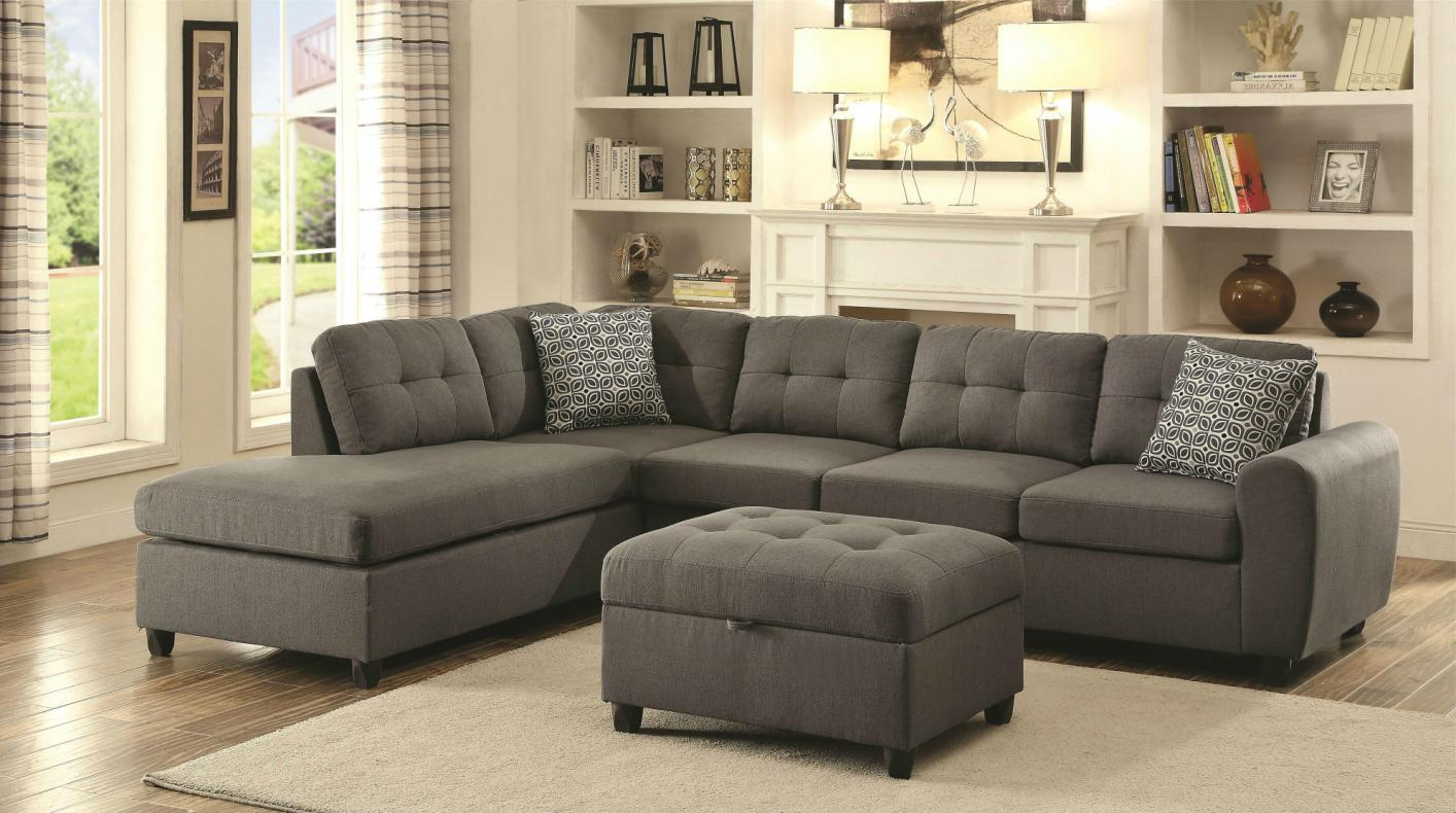 lovely collection of grey fabric sectional sofa