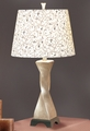 Beige Glass Table Lamp