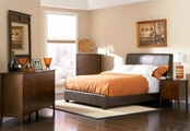 Tamara Walnut Wood Eastern King Bed Set