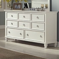 Tamarack Bright White Wood Dresser