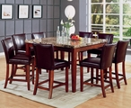 Telegraph Warm Cherry Wood And Marble Pub Table