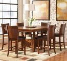 Thomson Dark Oak Wood Pub Table Set