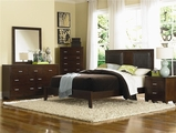 Tiffany Cherry Wood Queen Bed Set