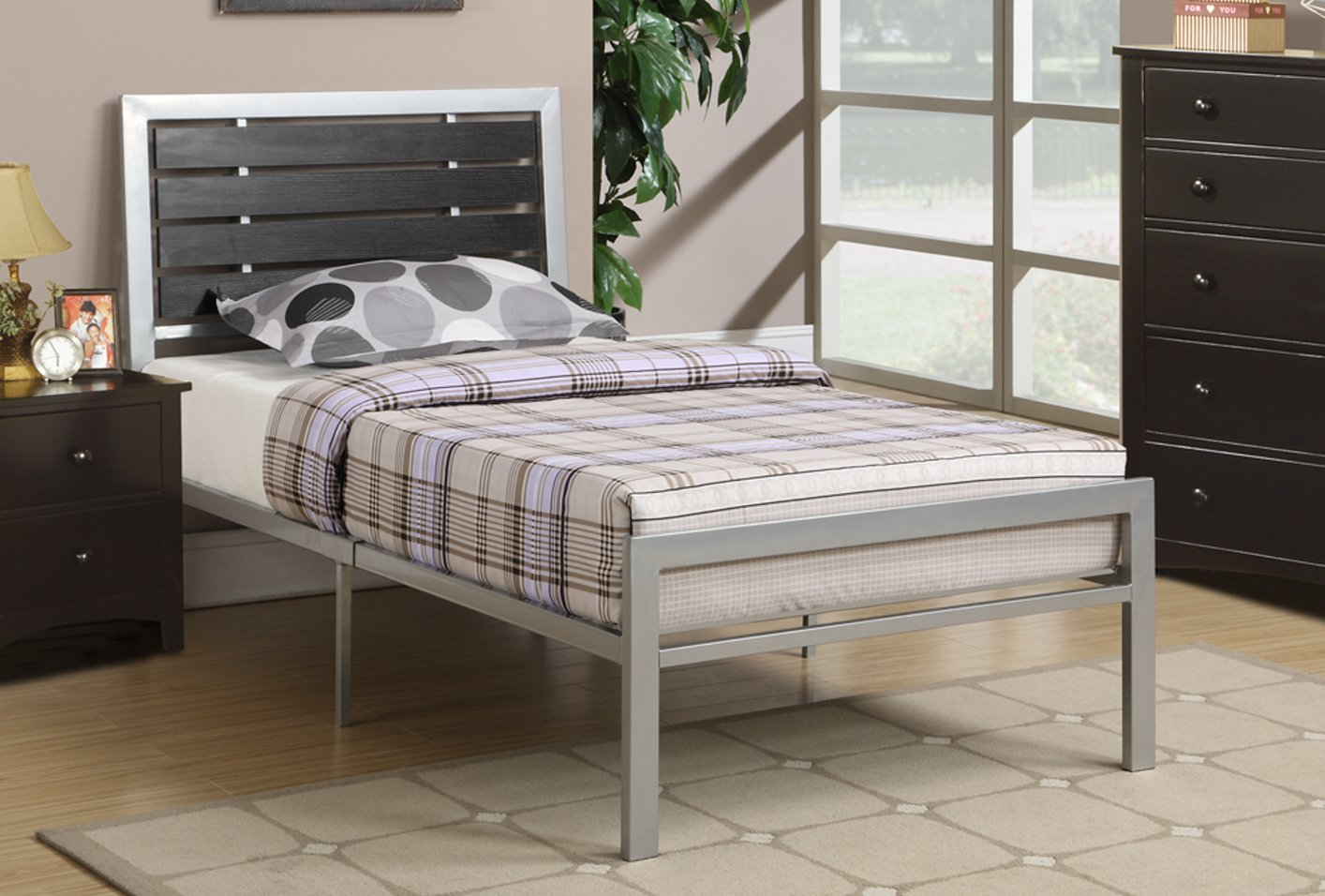 poundex f9412t black twin size metal bed stealasofa