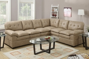 Tyson Cappuccino Fabric Sectional Sofa