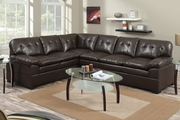 Tyson Espresso Leather Sectional Sofa