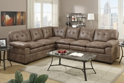 Tyson Mocha Fabric Sectional Sofa
