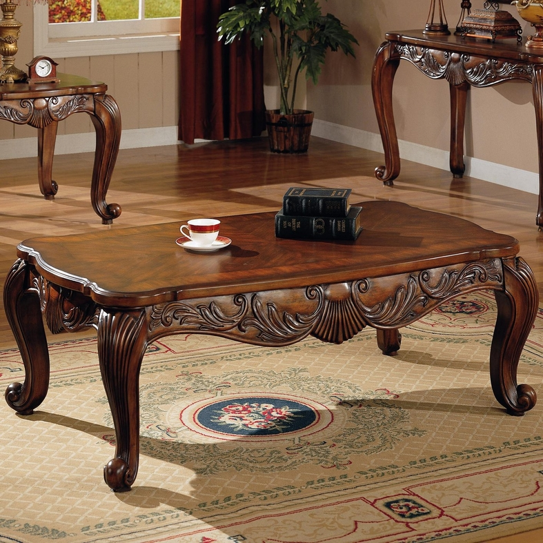 Victoria Brown Wood Coffee Table