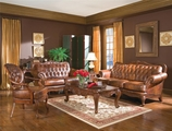 Victoria Brown Leather Sofa