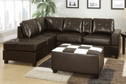 Walden Espresso Bonded Leather Sectional Sofa