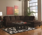 Walker Chocolate Fabric Sectional Sofa