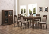 Warren Walnut Wood Dining Table Set