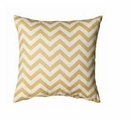 White Fabric Accent Pillow