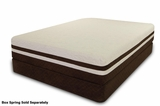White Fabric Queen Size Gel_Memory_Foam Mattress