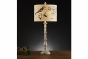 White Fabric Table Lamp