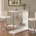 White Glass Bar Table