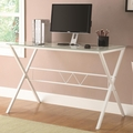 White Glass Office Desk
