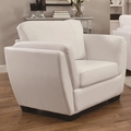Lois White Leather Chair