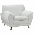 Robyn White Leather Chair