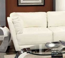 White Leather Corner Chair