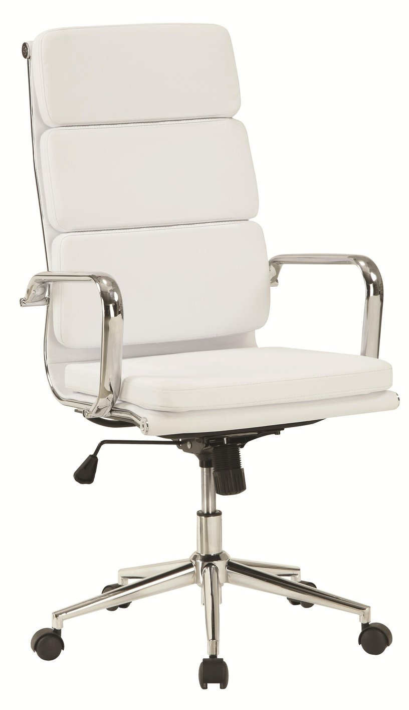 coaster 800837 white leather office chair steal a sofa furniture