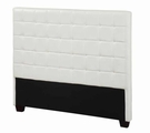 White Leather Queen Size Headboard