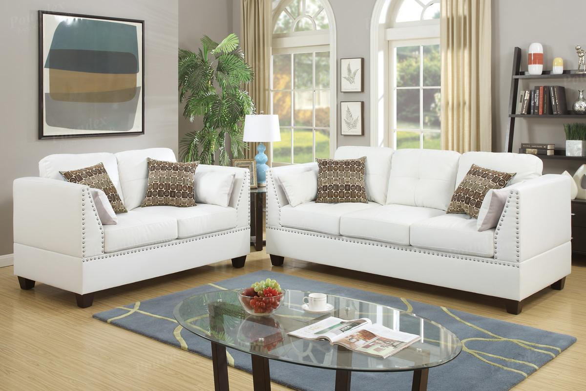 barlo white leather sofa and loveseat set