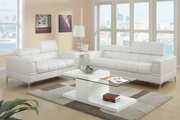 Chester White Metal Sofa and Loveseat Set