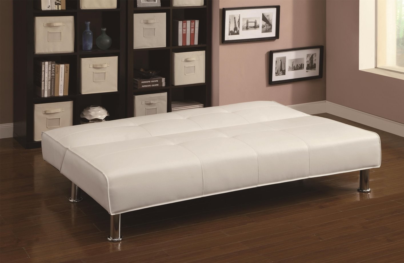 coaster 300296 white leather sofa bed steal a sofa furniture outlet