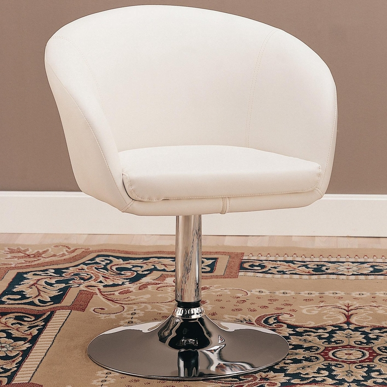 coaster 120354 white leather swivel chair steal a sofa furniture